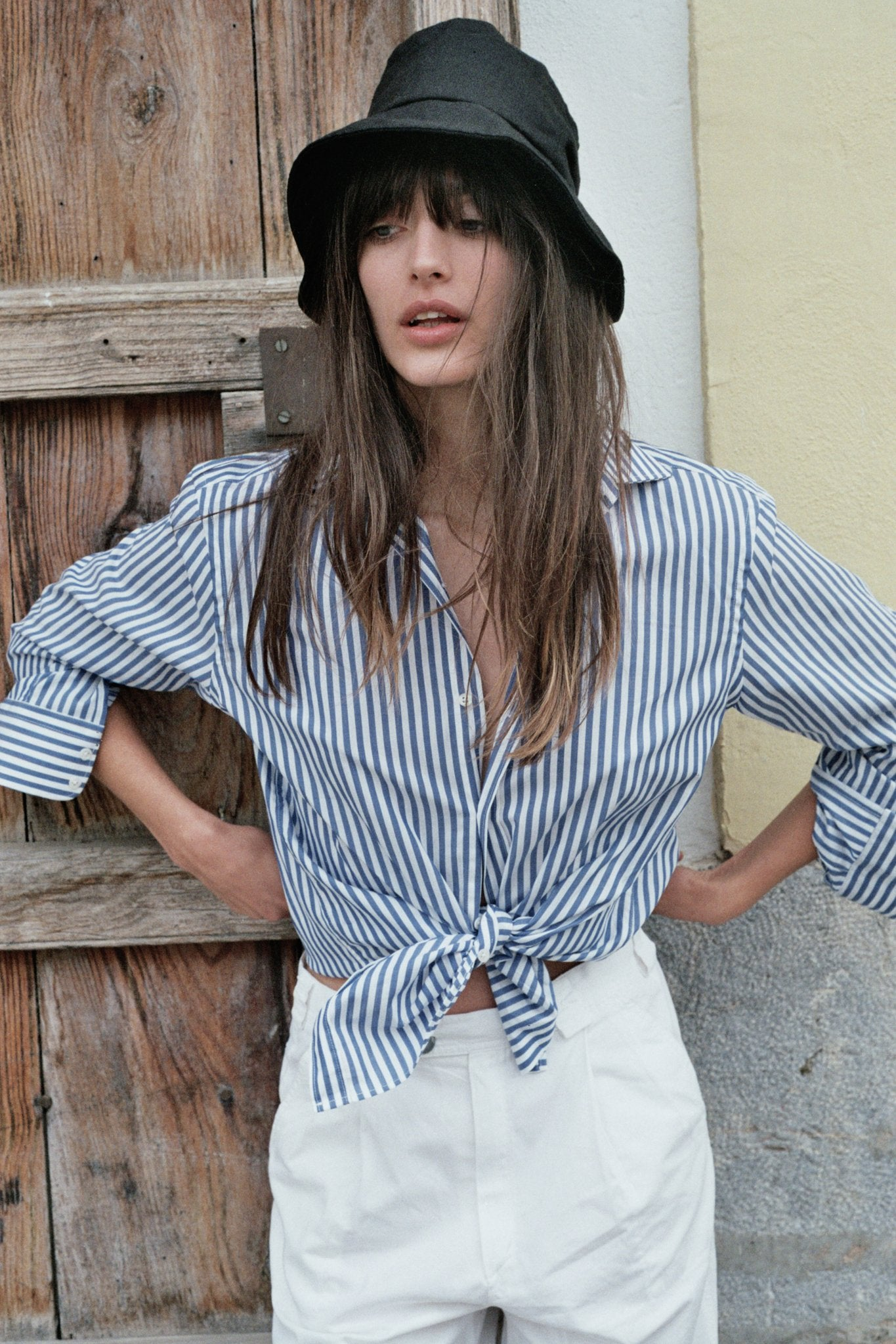 POPLIN: Blue & White Stripe