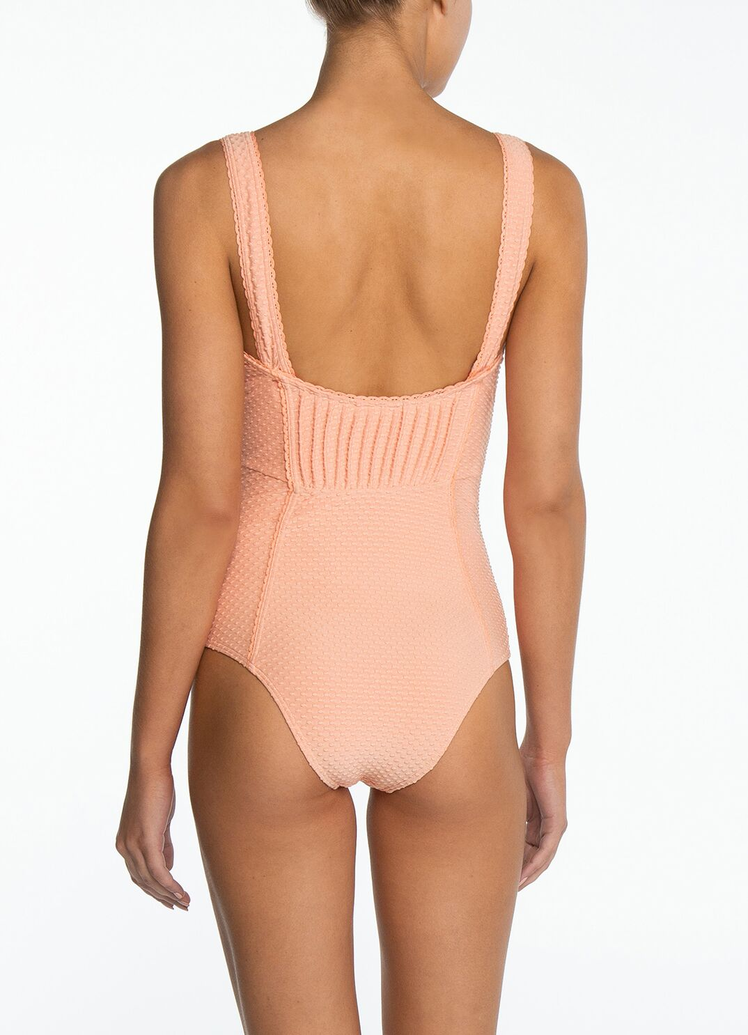 Apricot Pintucked One Piece