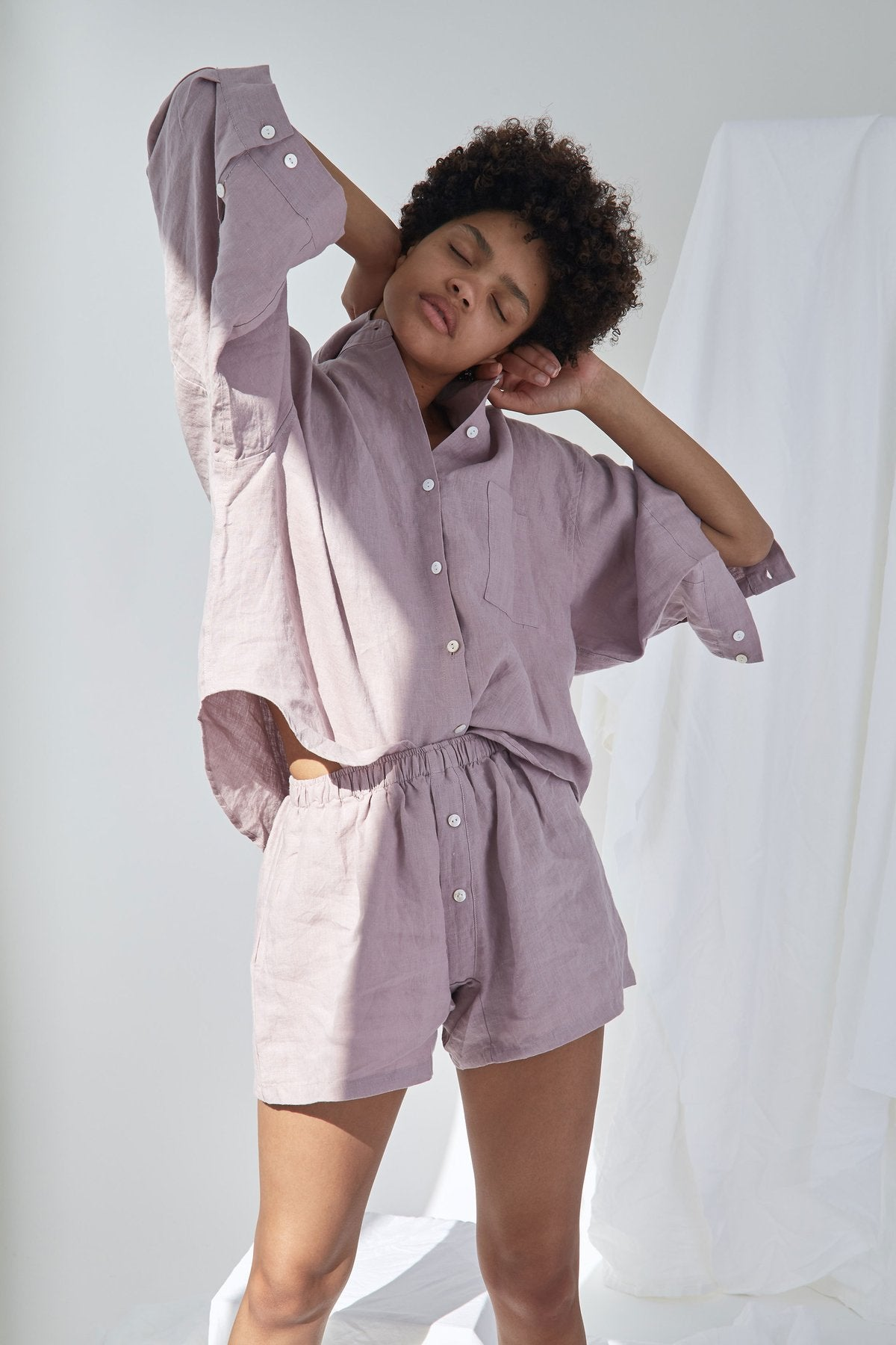 The 03 Sleepwear Set In Lilac