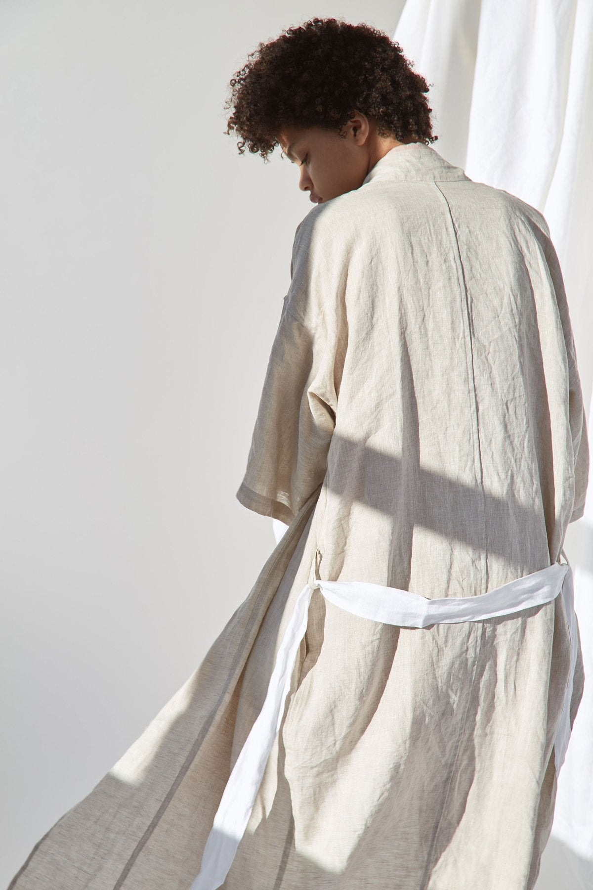 The 02 Full Length Robe In Natural