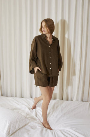 The 03 Sleepwear Set in Forest Green