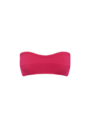 Fuchsia Piped Bandeau