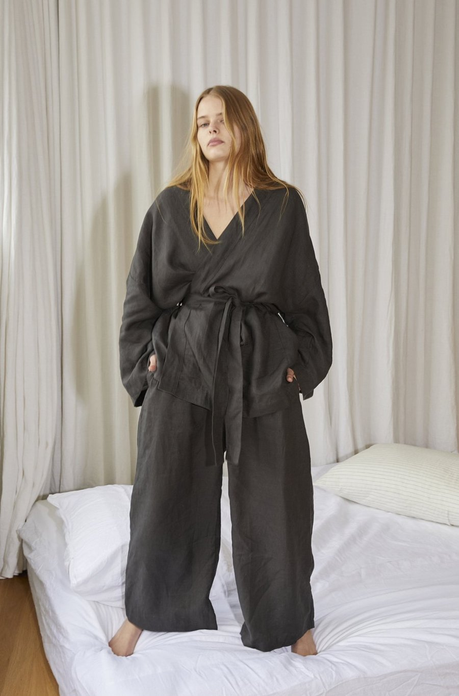The 01 Washed Black Loungewear Set