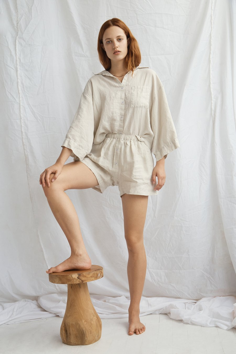 The 03 Sleepwear Set in Oatmeal