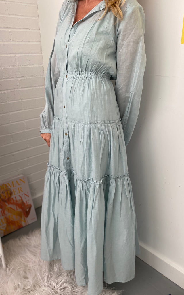 C Voile Gather Open Dress