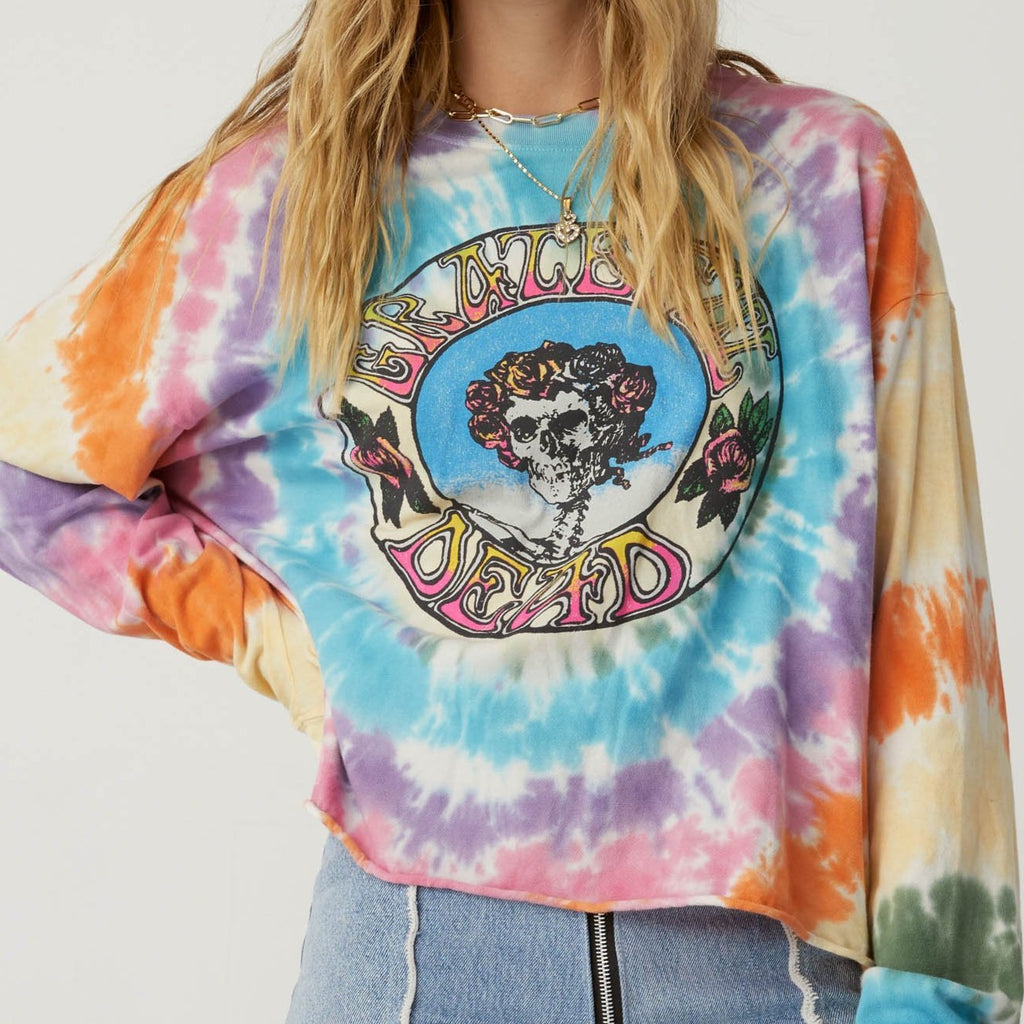 Grateful Dead TD Long Sleeve Crop
