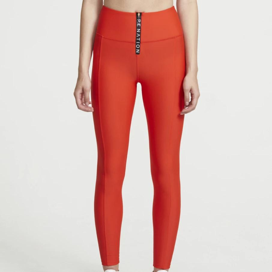 Straight Fire Legging Red Bright