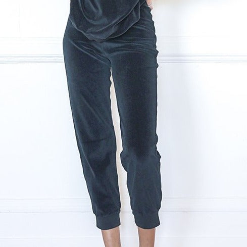 Slim Track Pants Velour