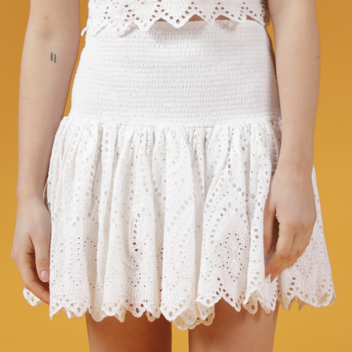 L'Arbonne Smocked Mini Skirt