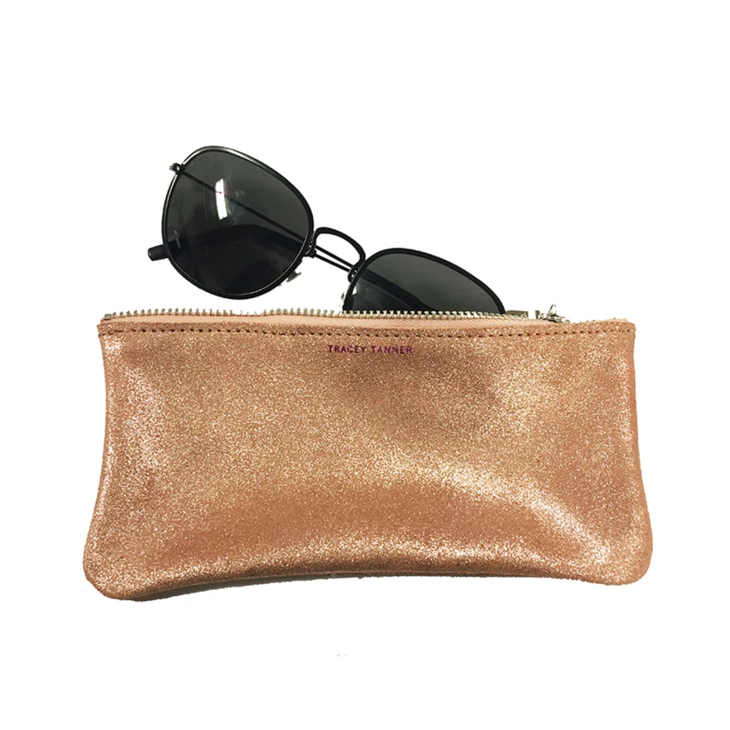 Tracey Tanner Eyewear Case Distressed Rose Gold