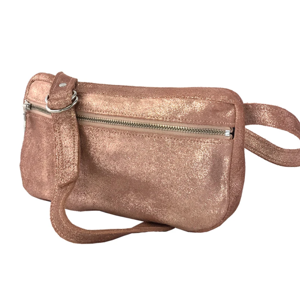 Tracey Tanner Fanny Pack Distressed Rose Gold