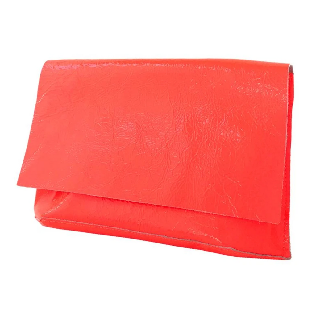 Tracey Tanner Carmen Flap Clutch Fluoro Red