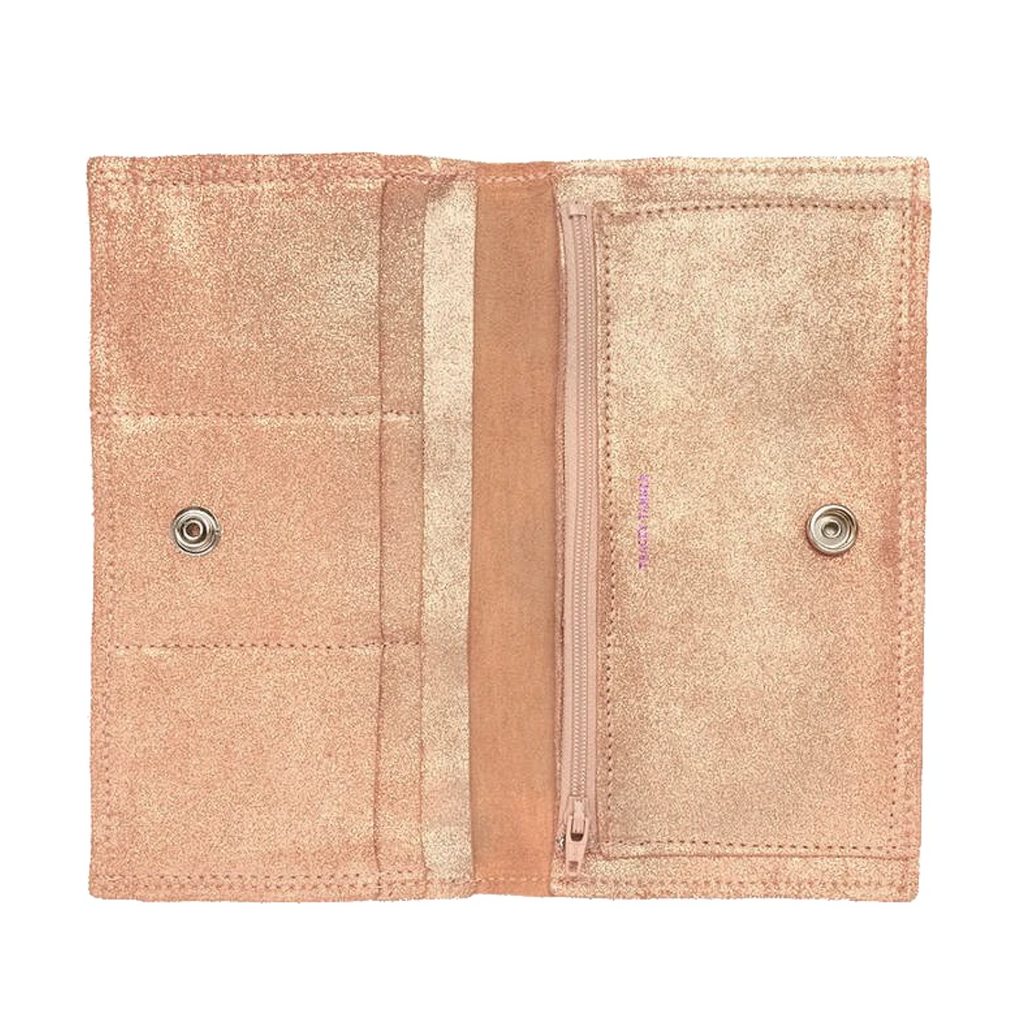 Tracey Tanner Sarah Wallet Distressed Rose Gold
