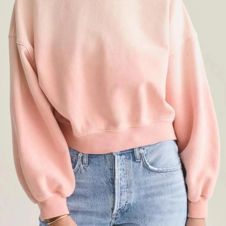 Balloon Sleeve Sunfade Sweatshirt