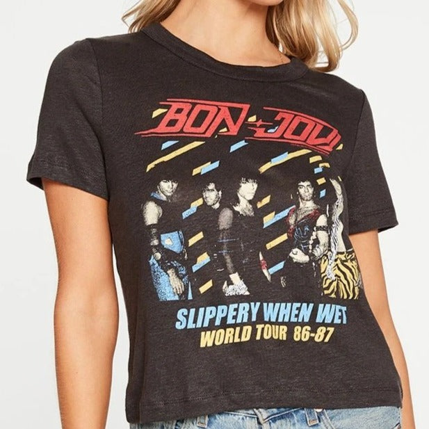 Bon Jovi Slippery When Wet Cropped Easy Tee