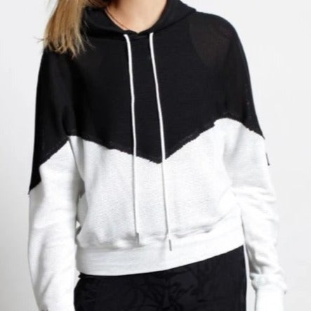 Breathe Mesh Color Block Hoodie