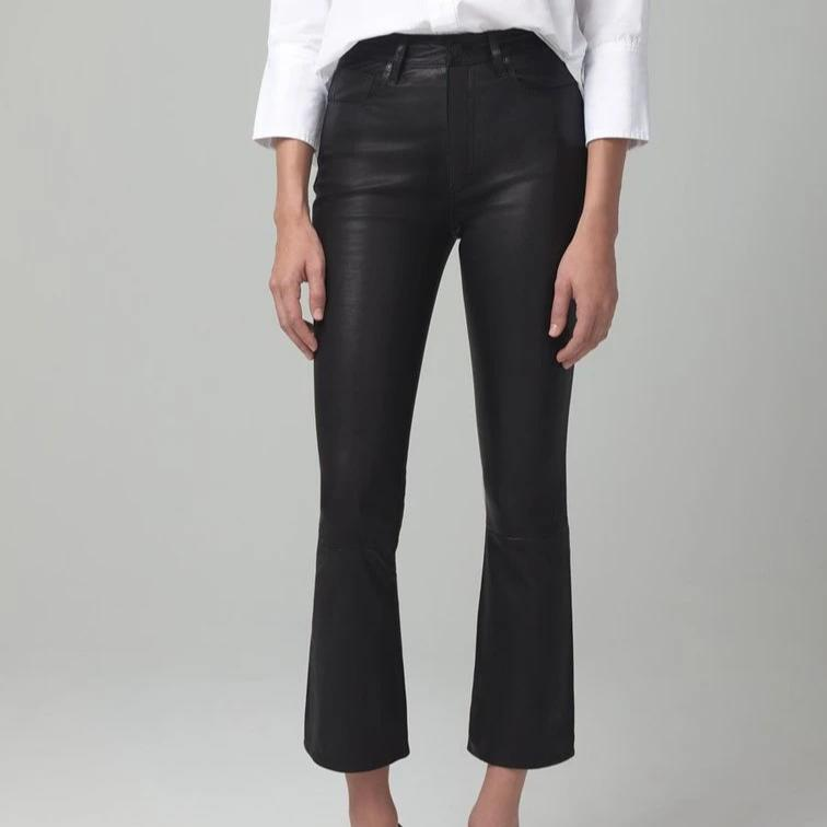 Demy Cropped Flare Leather