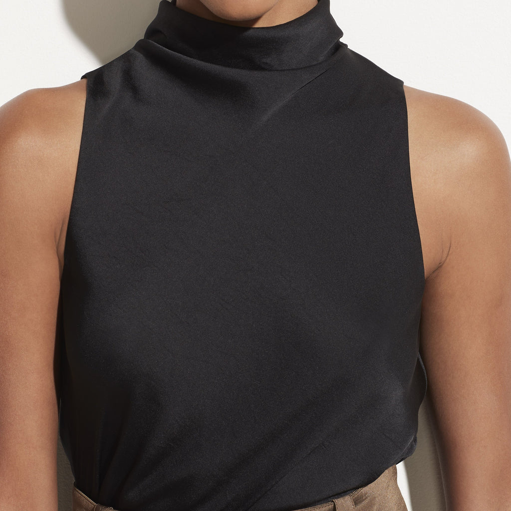 Draped Turtleneck Bodysuit
