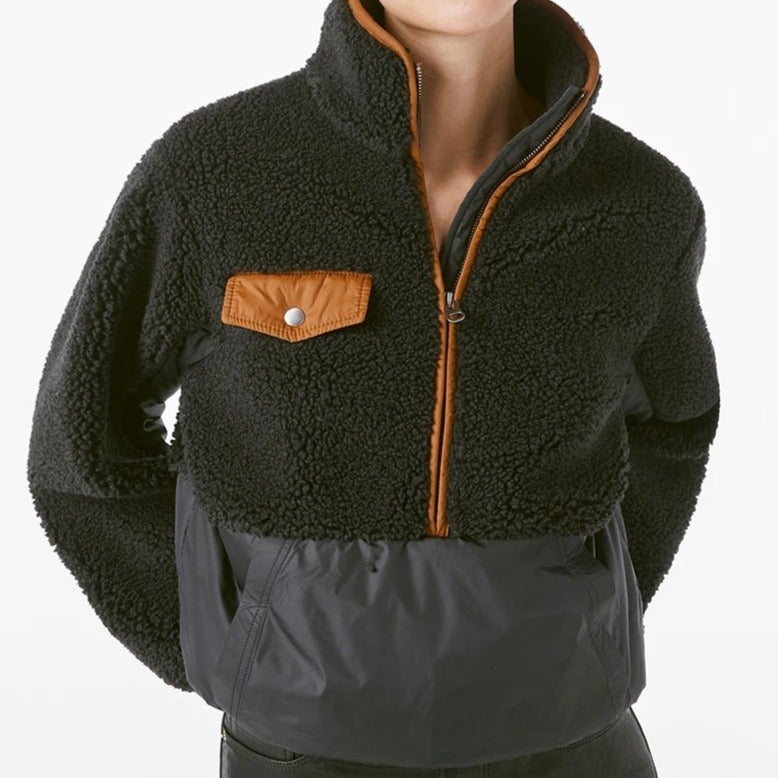 Fleece Mix Pullover