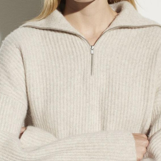 Half Zip Ribbed Pullover