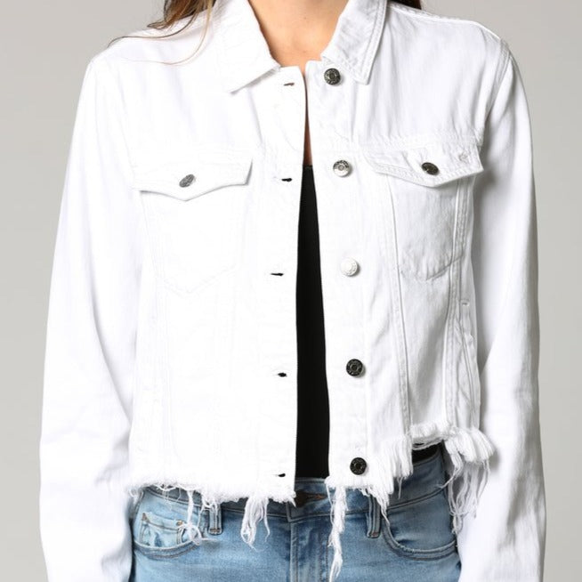 Cropped Fitted Denim Jacket