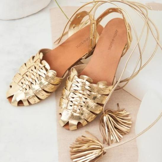 Mina Braided Leather Sandals