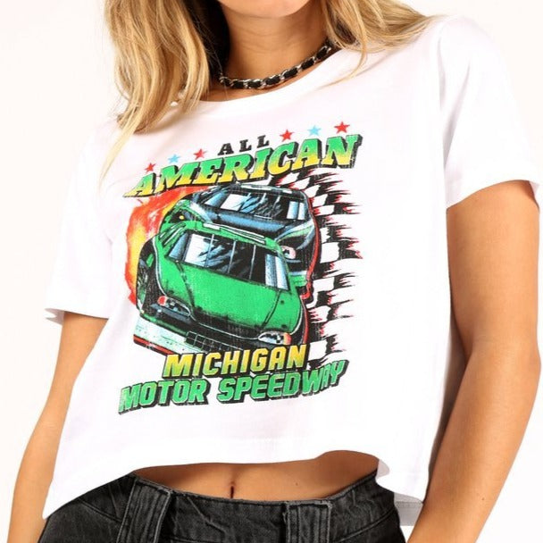 Michigan Speedway Crop Top