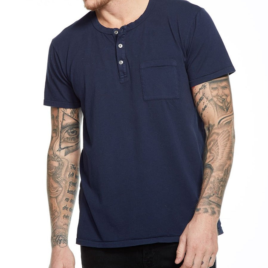 Cotton SS Pocket Henley