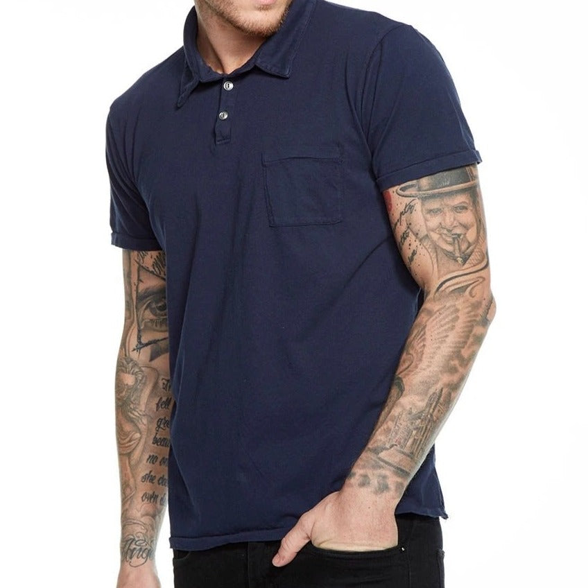 Cotton Polo w/ Pocket