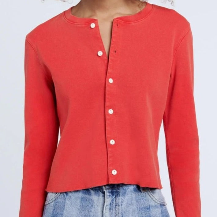 50s Crop Button Long Sleeve