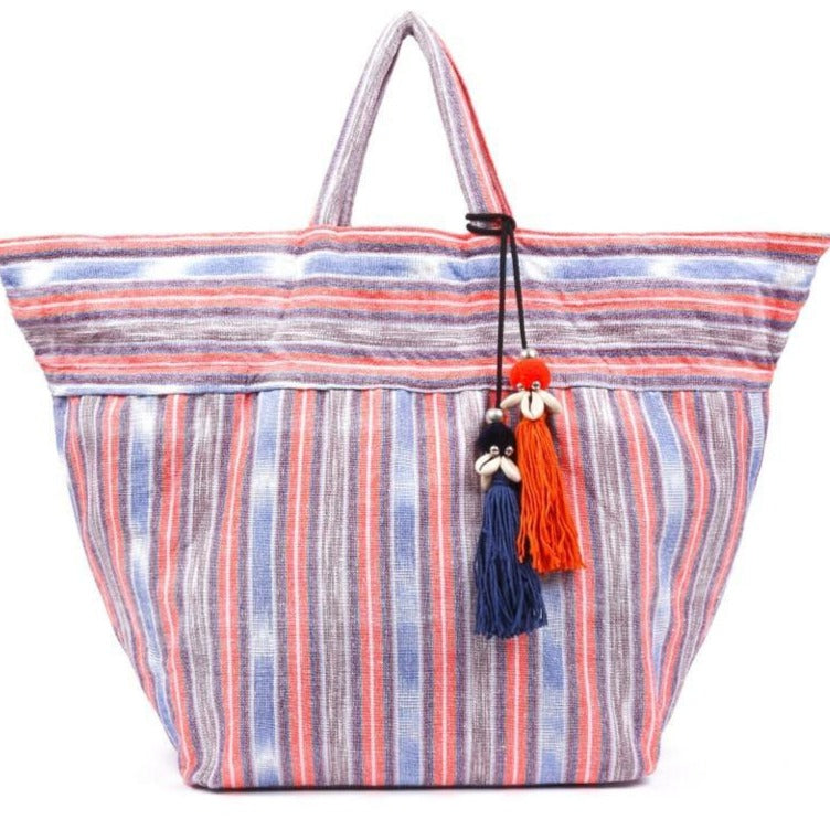 Samui Stripe Puka Beach Bag