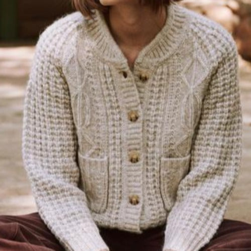 The Shrunken Cable Cardigan