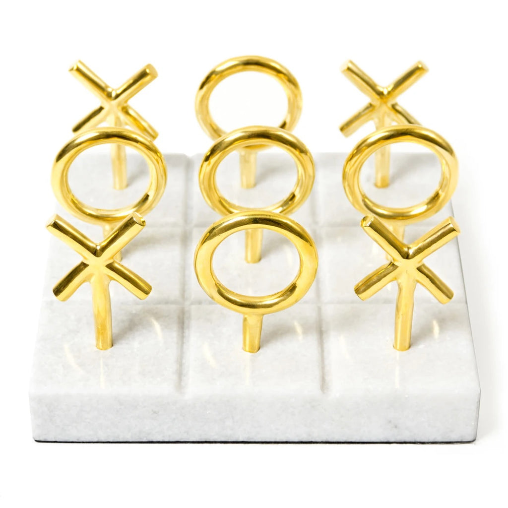 Brass Tic Tac Toe Set