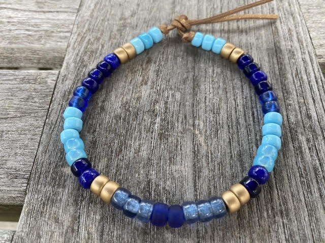Golden Blue Choker