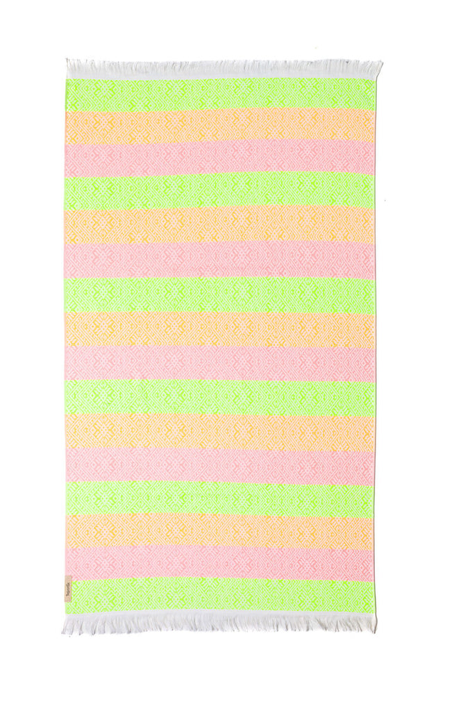 Waves Neon Jacquard Terry Towel
