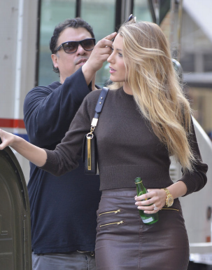 Rod Ortega styling Blake Lively at the Lucky Magazine Photo Shoot