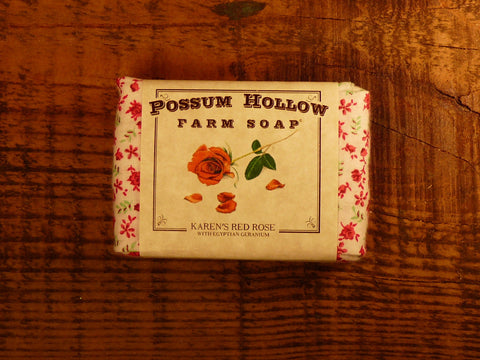 Karen's Red Rose Soap