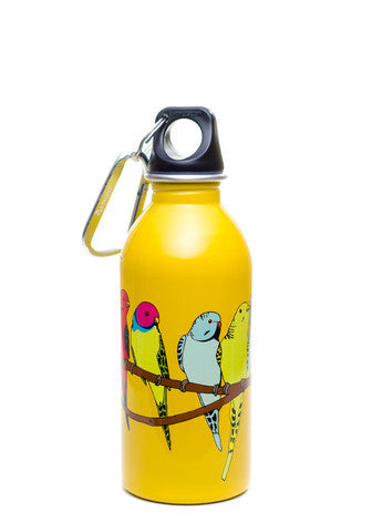 Parakeets on Yellow - 13oz