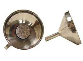 5'' Stainless Steel Funnel with Strainer and Handle