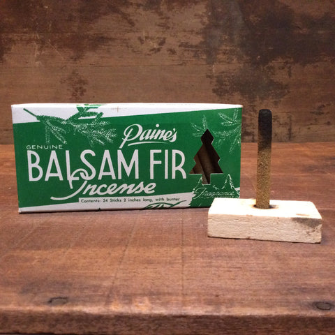 Balsam Fir Incense and Holder