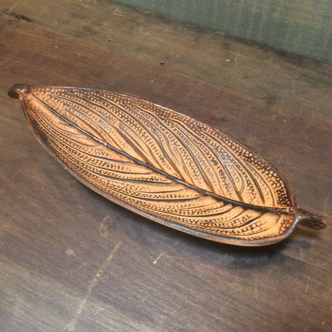 Incense Holder Brown Leaf
