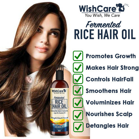 Benefits of Fermented Rice Hair Oil