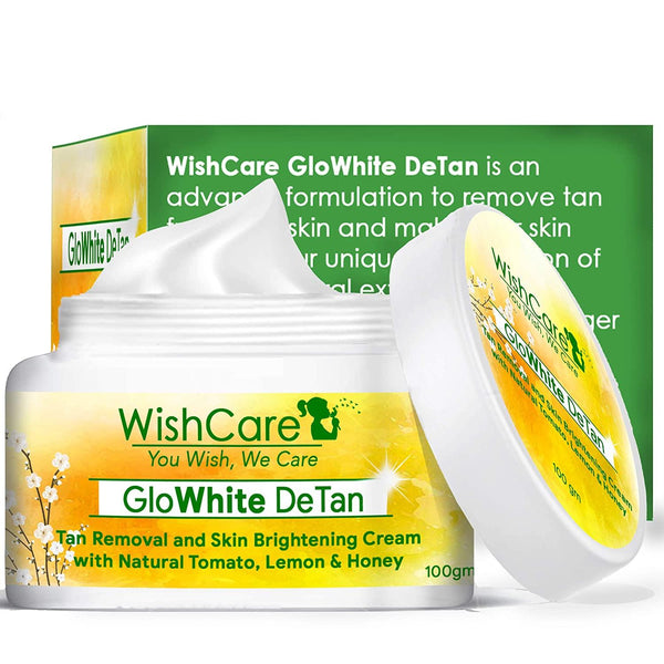 WishCare GloWhite DeTan Tan Removal and Face Brightening Cream - 100 Gms