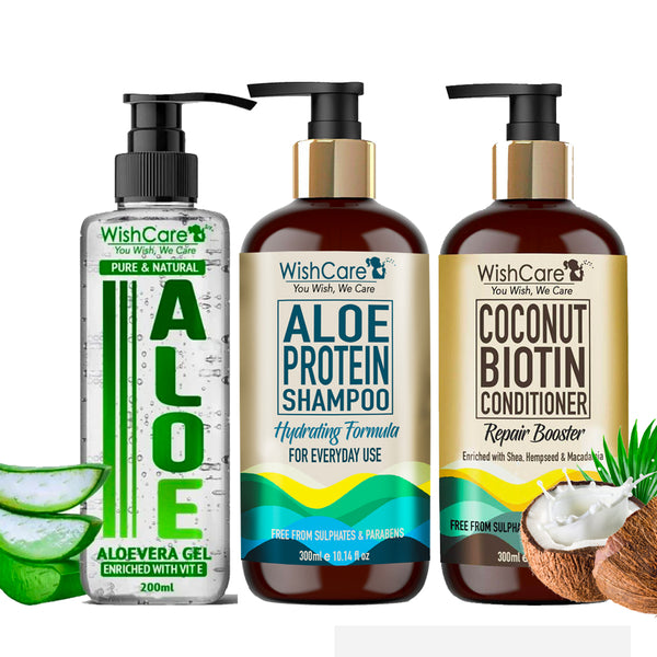 WishCare Aloe Coconut Hair Combo - Super Hydrating Formula