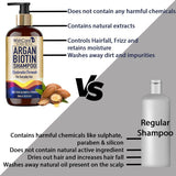 Argan Biotin Shampoo - Restorative & Volumizing Formula - For All Hair Types- 300ml - WishCare