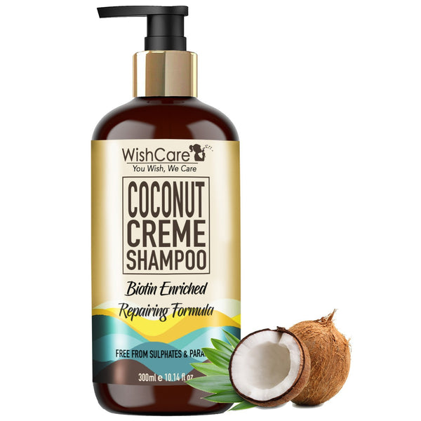Coconut Biotin Shampoo - Repairing Formula - For All Hair Types -300ml - WishCare