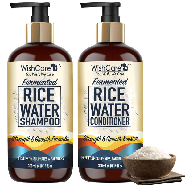 Fermented Rice Water Shampoo - Strength & Growth Formula - For All Hair Types - WishCare