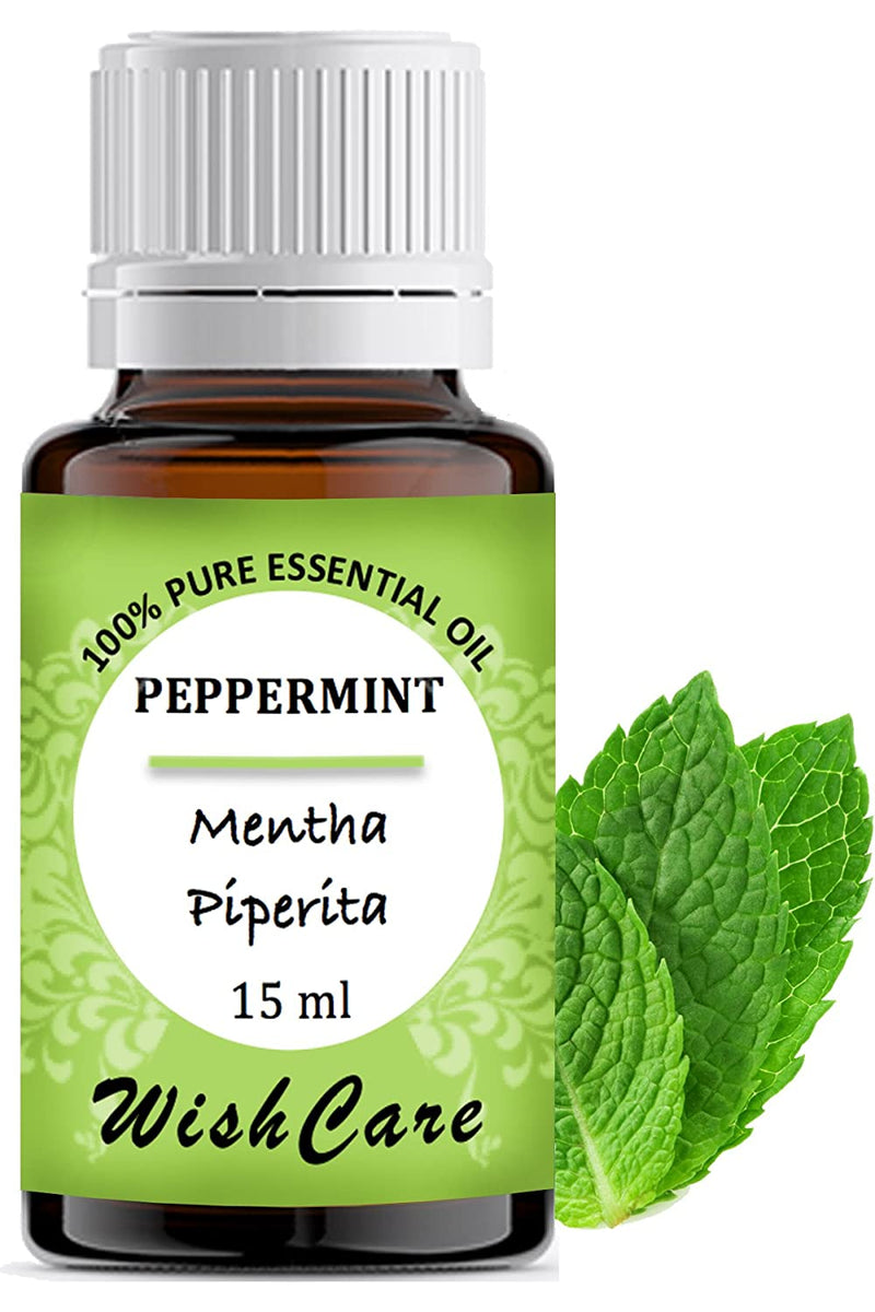 Peppermint Essential Oil - 100% Pure - 15 ML - WishCare