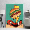lightning fast food pop art