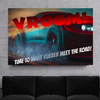 vroom! time to make rubber meet the road wall art
